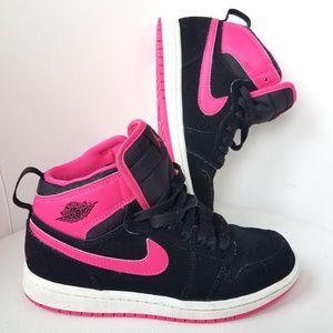 Air Jordan's 1Black and Pink Retro High Top Nike